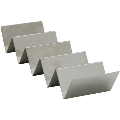 Winco TCHS-45 4-5 Compartments Stainless Steel Taco Holder Set of 6