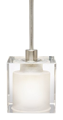 Stone Lighting PD134CRPNM3M Crystal Cube - One Light MR16 Halogen Monopoint Mini Pendant, Polished Nickel Finish (Crystals Monopoint Pendant)