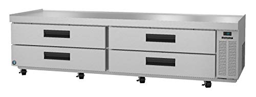 Hoshizaki CRES98, Refrigerator, Two Section Equipment Stand Prep Table, Stainless Drawers