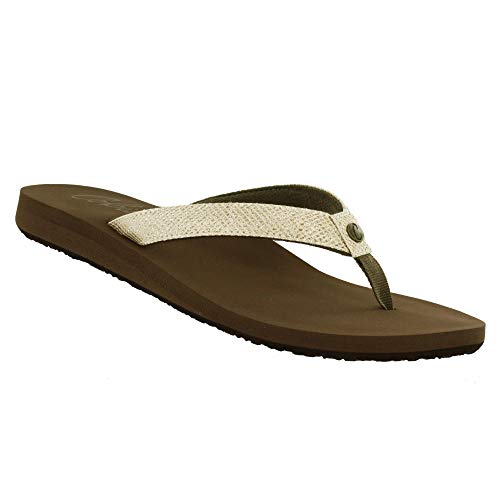 - Cobian Women's Fiesta Skinny Bounce Tan Sandals, 6