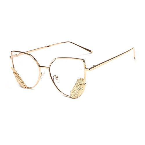 Aoligei Version européenne des lunettes de soleil mode réflectorisé tendance lunettes de soleil en forme de papillon-lunettes de soleil lunettes 7h57FKg