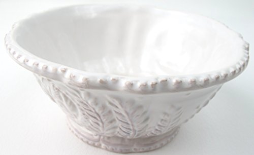 - Provencal White Rooster Cereal or Soup Bowl Heather Goldminc Blue Sky