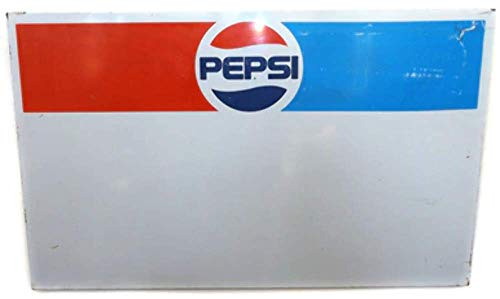 (Vintage Pepsi-Cola Logo Soda Pop Metal Advertising Sign Board)