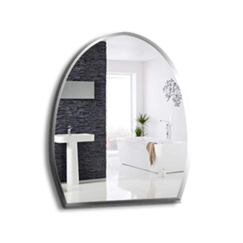 DONGANQI Bathroom Mirror Frameless Sink Bathroom Wall Mount Mirror Dressing Table Half Ellipse Mirror Creative Makeup Mirror,5mm,450600mm ()