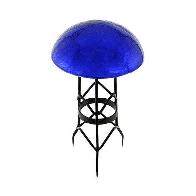 Toad Stool in Crackle Blue Lapis