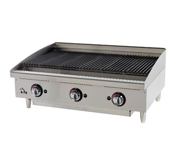 Gas Charbroiler - Radiant 15''Wx25-3/4''Dx15-1/2''H 40,000 BTU by Star
