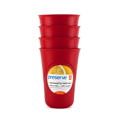 Preserve Cup, Everyday, Pepper Red, 4 ct