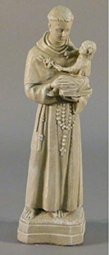 25'' Chestnut Finish St. Anthony Outdoor Patio Statue
