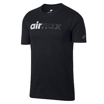 Nike Herren M NSW Air Max 95 Kurzarm Laufshirt, Schwarz