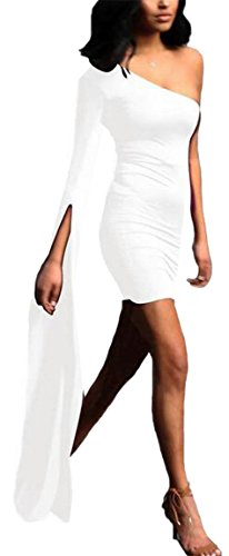 One Dress Midi Sleeve Bell Shoulder Bodycon 2 Long Womens Slit Jaycargogo 5wzBO8qB