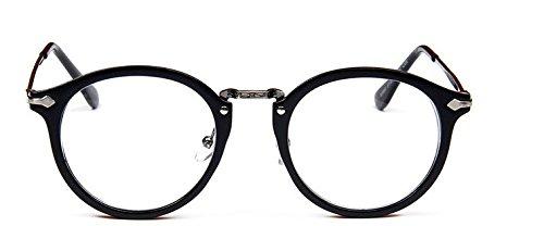 branches hommes Monture noir religieux 9580 sauvages grises mbryform femmes rondes frame et Retro lunettes miroir visage les plaine wCqIA1a