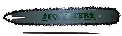 Forester 18'' Bar and Chain Combo Kit for Small Stihl Chainsaws .325 Pitch .063 Gauge Mount Including 3/16'' Round File 2 Piece Bundle