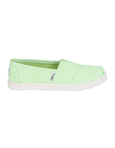 Price comparison product image TOMS Classic Girls Slip-Ons,  Neon Green,  3