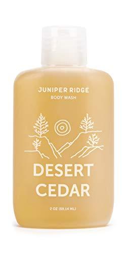 Juniper Ridge   Desert Cedar Body Wash   Concentrated Castile Soap   Organic Oils   No Synthetic Fragrance   Multi Use   Travel Size   2 oz Bottle