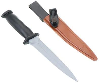 ラバー製 トレーニングナイフ プラスチックグリップ ブラウン