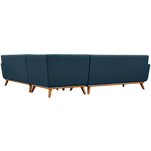 Modway Engage L-Shaped Sectional Sofa, Azure