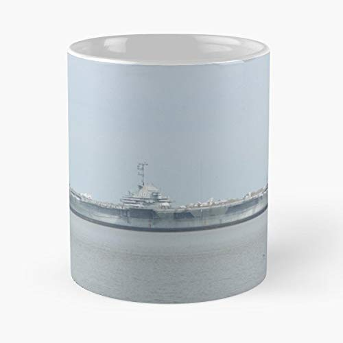 Uss Yorktown Aircraft Carrier Ship Patriots Point - Coffee Mugs Unique Ceramic Novelty Cup For Holiday Days 11 Oz.