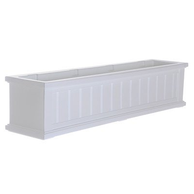 Cape Cod Rectangular Window Box Size: 48'', Color: White by Mayne Inc.
