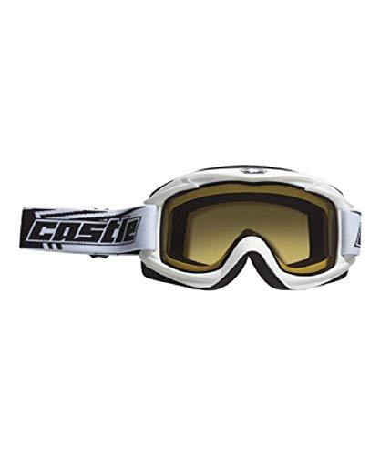 Castle Launch Snowmobile Goggles - White by Castle