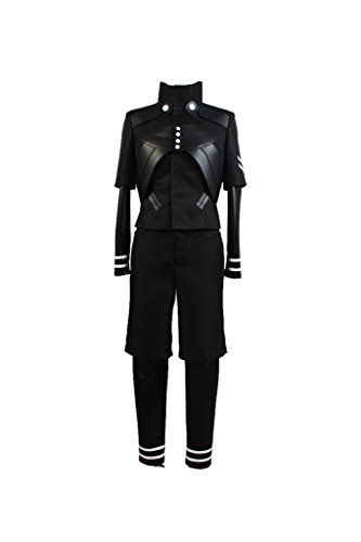 [Hallween Cosplay Black Top Pant Uniform Outfit Suit Costume for Festival Party] (Top Gun Helmet Costume)
