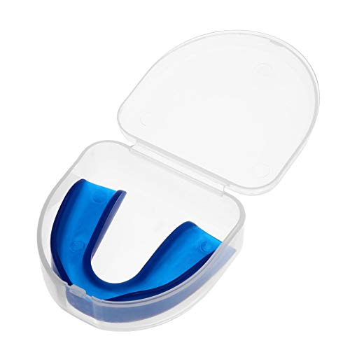 Jonerytime Clear Gum Shield Teeth Protector Mouth Guard Piece Rugby Football Boxing (Blue)
