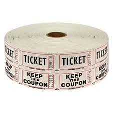 (Two (2) Rolls of Two-part White Double Roll Raffle Tickets Totaling 4,000)