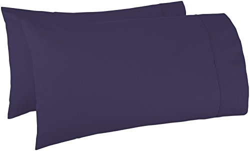 Cotton Armoire (Mayfair Linen Pillow Case Set 500 Thread Count 100% Egyptian Cotton 2pc, Silky Soft & Durable (King, Plum))