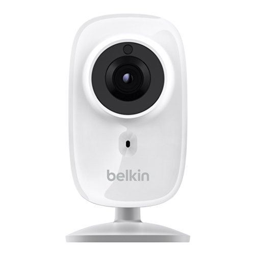 Belkin NetCam HD+ Wi-Fi enabled Camera works with WeMo, includes Night Vision, All Glass Wide Angle Lens, and Infrared Cut-off Filter