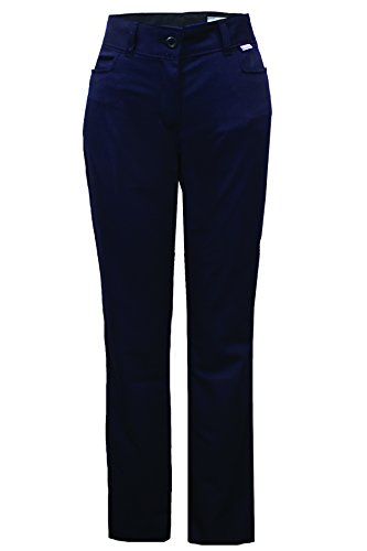 National Safety Apparel PNTUPW8X32 Women's UltraSoft Pants, 88% Cotton/12% Nylon FR, 8'', Navy by National Safety Apparel Inc