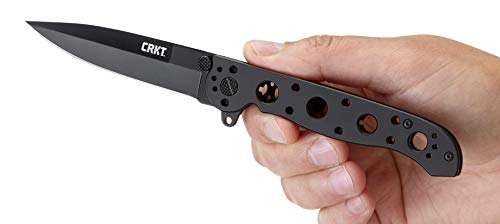 CRKT M16-03KS Folding Pocket Knife: Sandvik Steel Blade with Stainless Steel Handle, Carson Flipper Opening, and Frame Lock