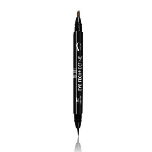 Milani Eye Tech Define - 2-in-1 Brow + Eyeliner Felt-tip Pen, Dark Brown/Black, 0.04 Fluid Ounce