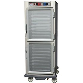 - Heated Holding Cabinet - Controlled Humidity Full Height, Clear Dutch Doors