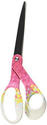"Fiskars 194512-1019 N/A Pink Triangle Designer Bent Scissors 8"" - from Fiskars"