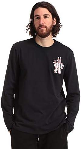 長袖 Tシャツ メンズ ロンT 綿100% Mマークワッペン クルーネック [MC8D701208390T] [並行輸入品]