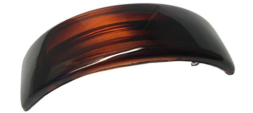 Parcelona French Curved Tortoise Shell Strong Grip Celluloid Automatic Volume Hair Clip Hair Barrette
