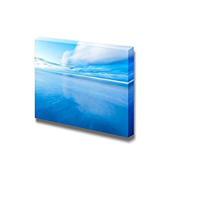 Canvas Prints Wall Art - Beautiful Seascape Under Blue Sky | Modern Wall Decor/Home Decoration Stretched Gallery Canvas Wrap Giclee Print & Ready to Hang - 24