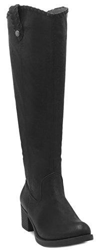 Italie High Whipstitch Rampage Knee Women's Riding Boot With Black 5w4n1gqA