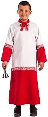 El Rey del Carnaval Disfraz de Monaguillo para niños: Amazon.es ...