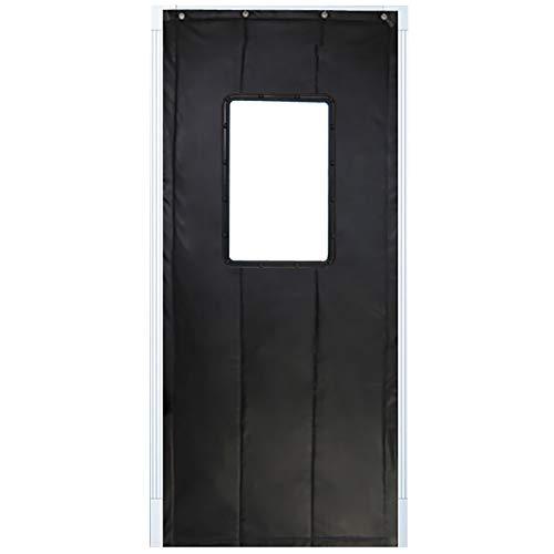 JIANFEI Door Curtain Winter Keep Warm Waterproof,3 Colors, 17 Sizes Customizable (Color : BLACK, Size : 120x200cm)