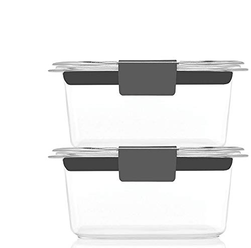 Brilliance Food Storage Container, Small, 1.3 Cup, Clear, Set of 4