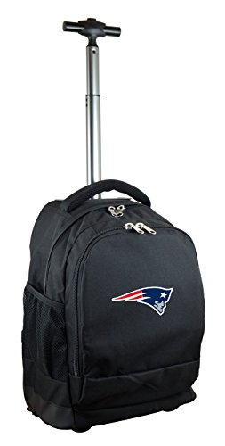 NFL New England Patriots Expedition Wheeled Backpack, 19-inches, Black from Denco
