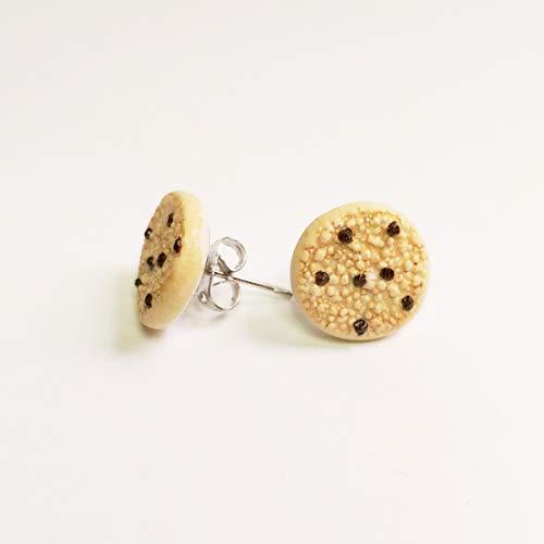 Chocolate Chip Cookie Earrings Faux Food Drink Jewelry Raisin Birthday Halloween Christmas]()