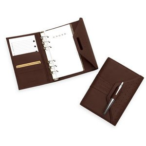 Cross Autocross Leather, Personal Agenda Calendar, Brown - Personal Agenda Cross