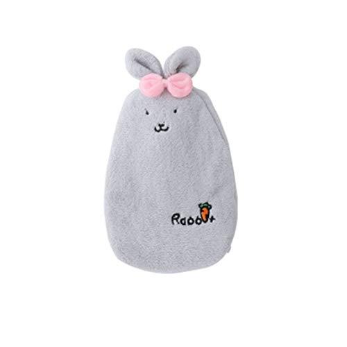 - Cartoon Rabbit Hand Warmer Washable Hot Water Bottle Cute Plush Warm Water Bag