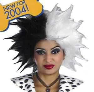 Disguise Womens Disney Cruella De Vil Deluxe Wig Adult