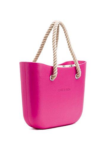 (LIME AND SODA Women's Fashion Eva handbag - Mix and Match - Fuchsia)