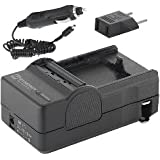 Canon PowerShot SX40 HS Digital Camera Battery Charger Mini Battery Charger Kit For Canon NB10L Battery - Replacement For Canon CB-2LC Charger - (with Car & EU adapters)