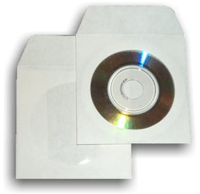 3-Inch Mini Paper CD/DVD Sleeves with Window -