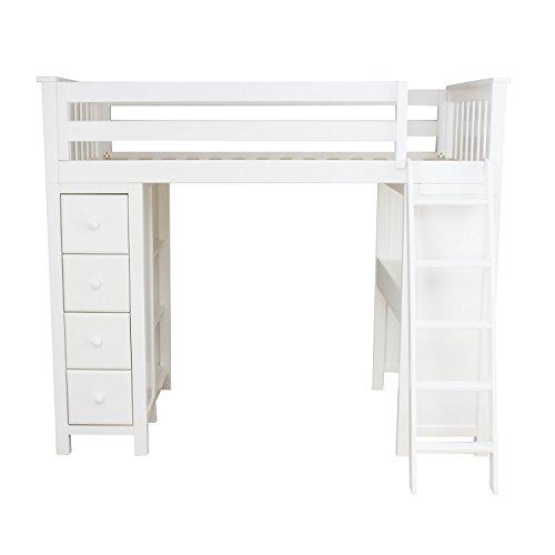 Plank U0026 Beam Combo Loft Bed + Dresser + Desk, White