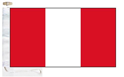 Peru Civil (Merchant) Ensign Boat Flag - 1/2 Yard (45cm x 22cm) - Rope and Toggle
